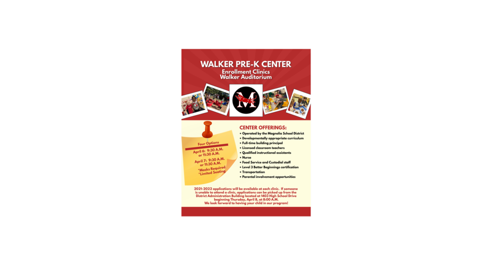 Walker Pre-K Enrollment Clinics