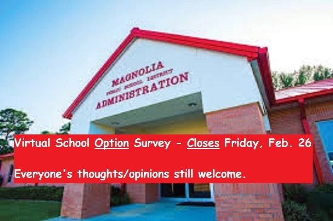 Virtual School Survey Reminder - Due Feb 26th