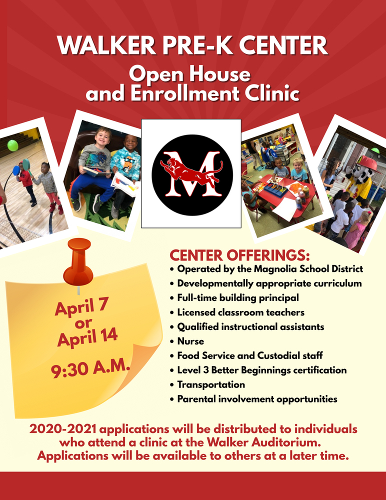 Walker Pre-K Open House and Enrollment Clinic