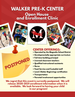 Open House and Enrollment Clinic Postponed