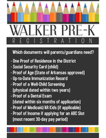 Walker Pre-Kindergarten Center Registration Information