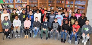 Central Elementary School Names January Students of the Month