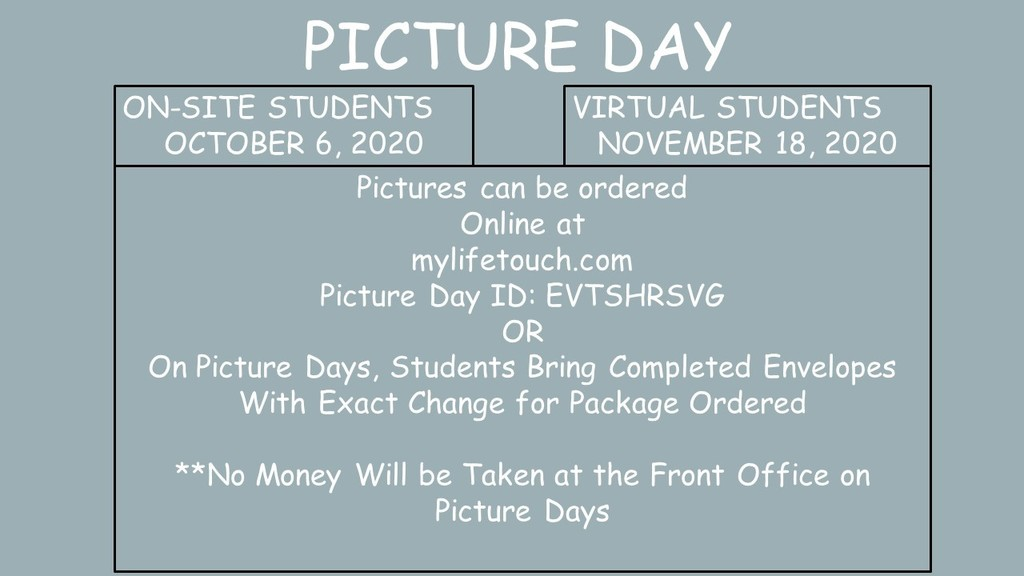 Dates for Picture Days