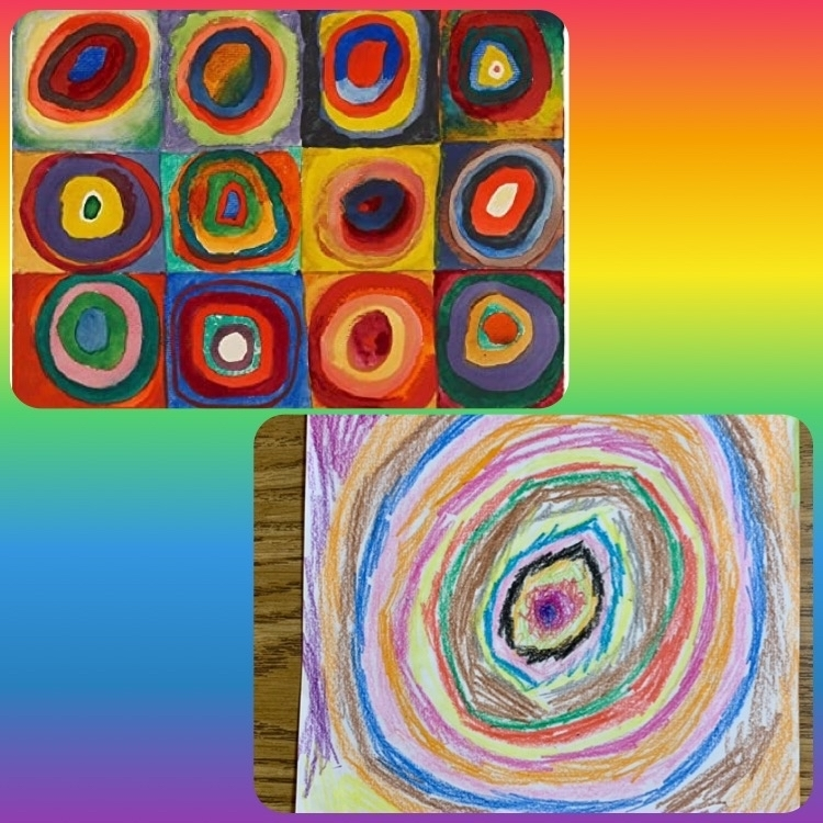 Kandinsky's art compared to a student's art
