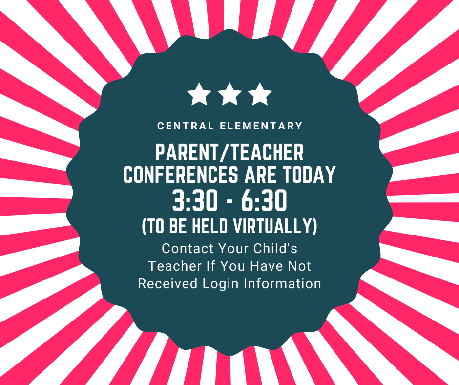 Parent/Teacher Conference Reminder Today 3:30 - 6:30