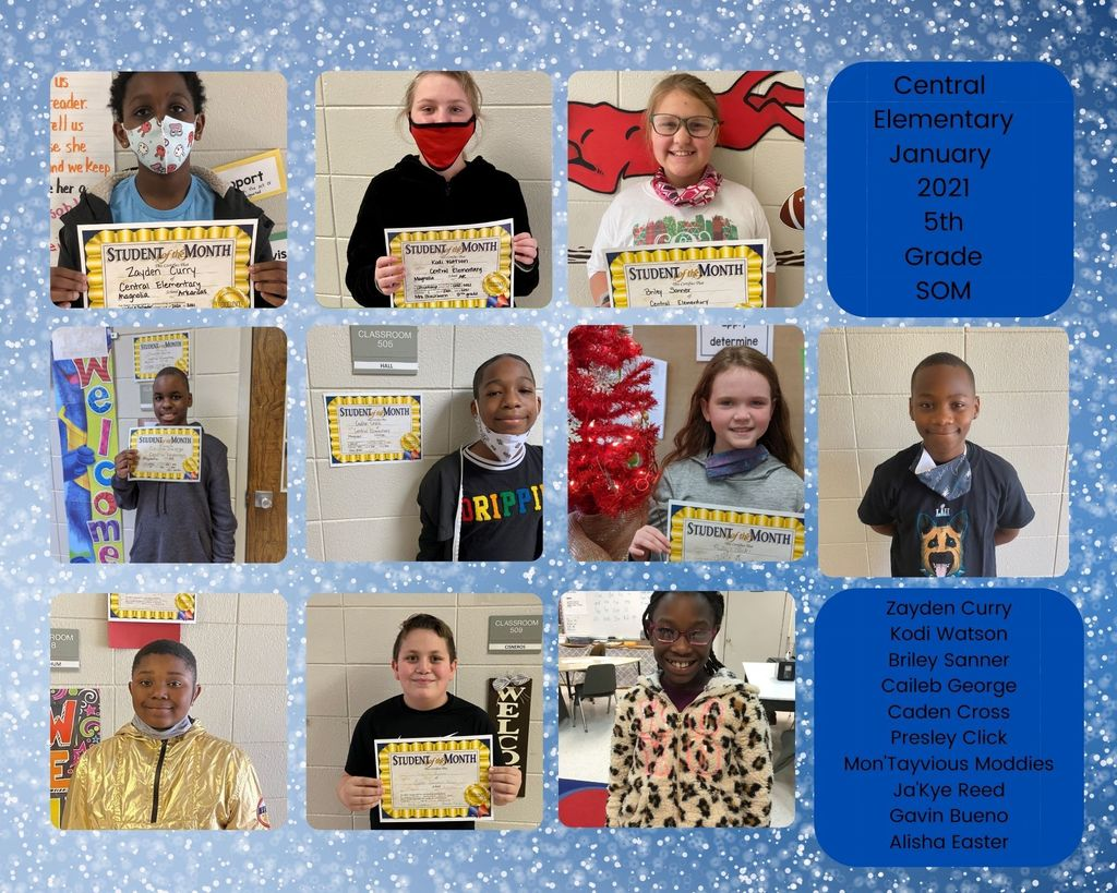 5th Grade January Students of the Month