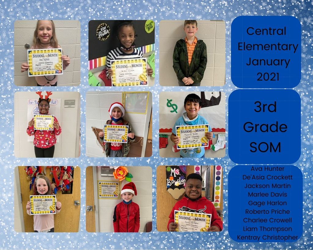 3rd Grade January Students of the Month