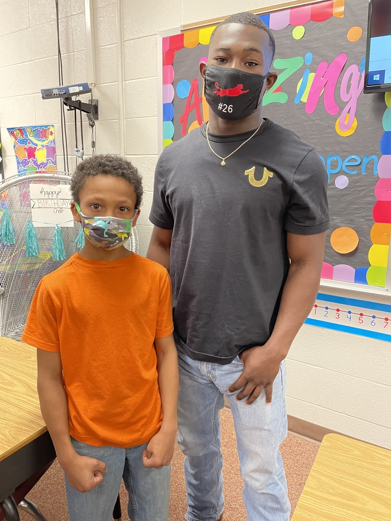 Kyrin and James'darius enjoy their time together in Mrs. Hagaman's 3rd grade class at Central Elementary.