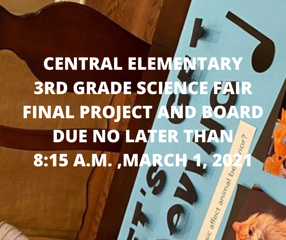 Due Date Information for 3rd Grade Science Fair Projects