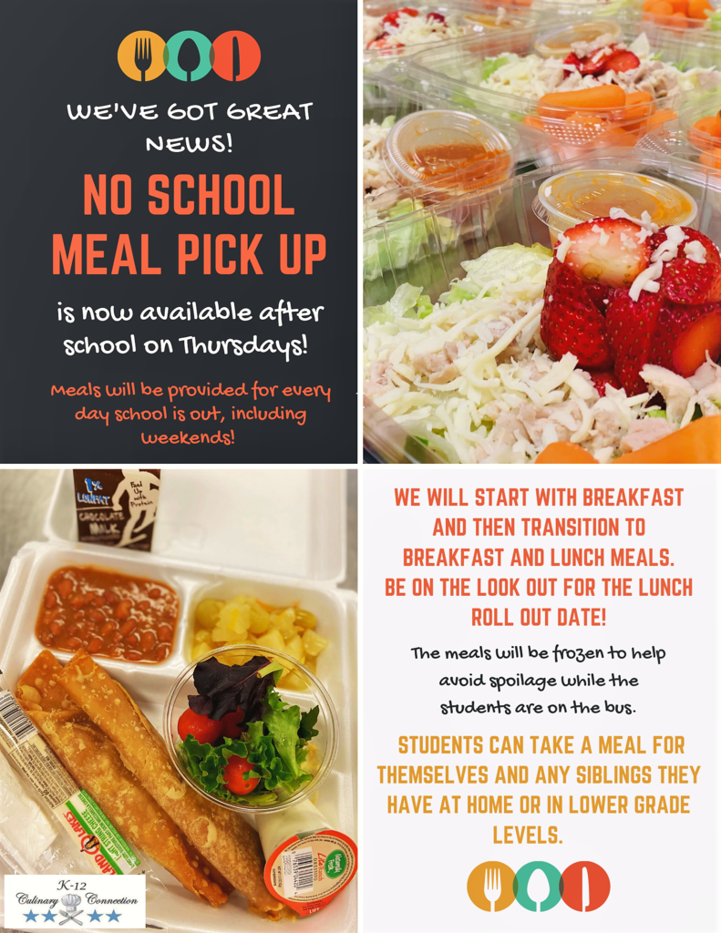 No School Pick Up Meal Flyer
