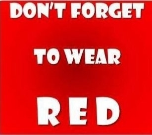 wear red sign