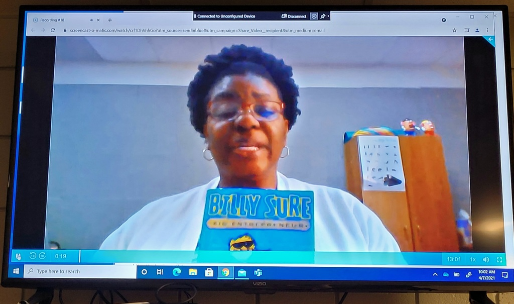 Mrs. George Reads Billy Sure