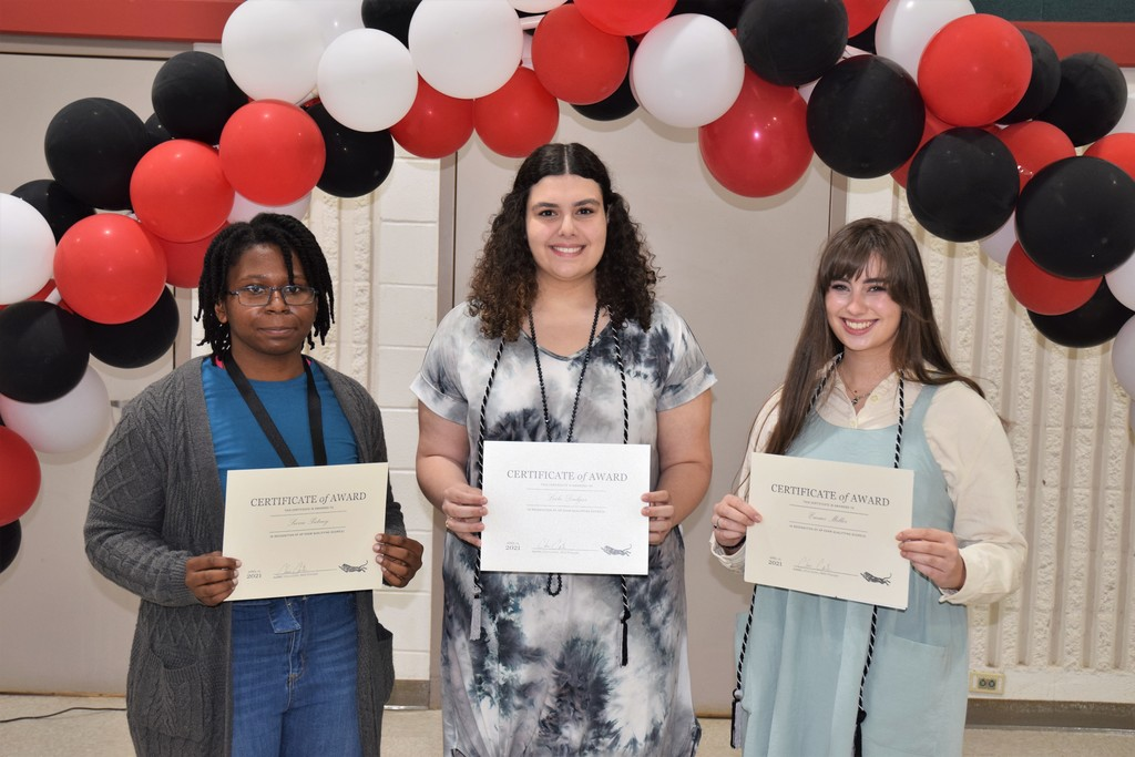 High School Student award winners