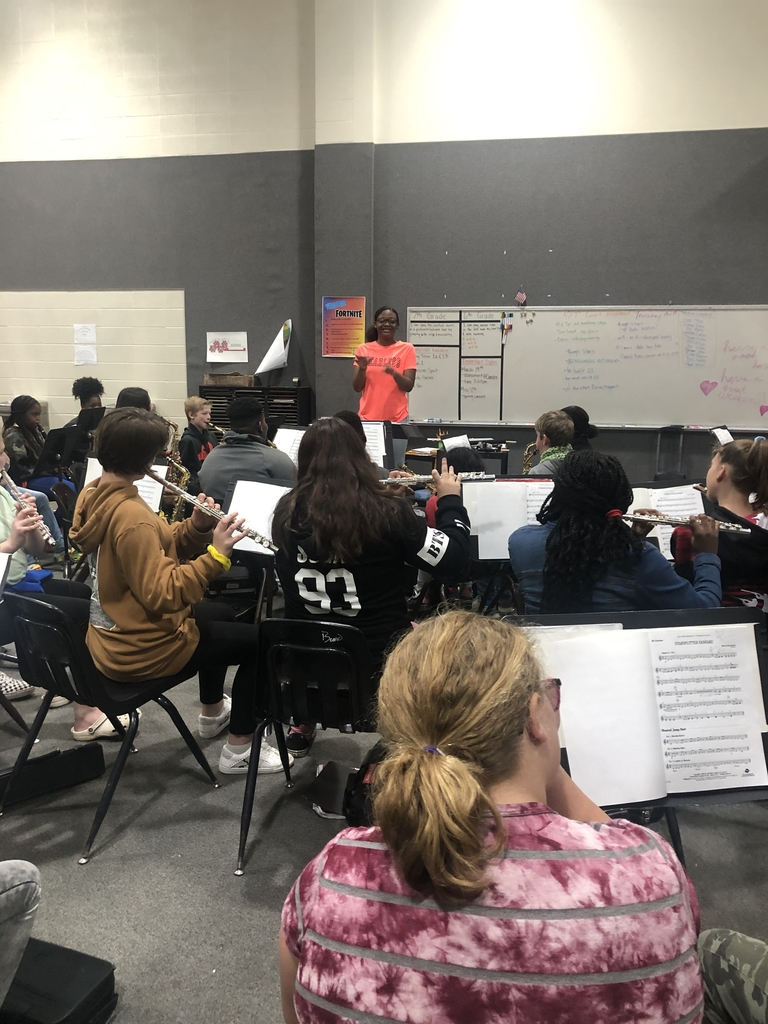 Clarinet student conducting
