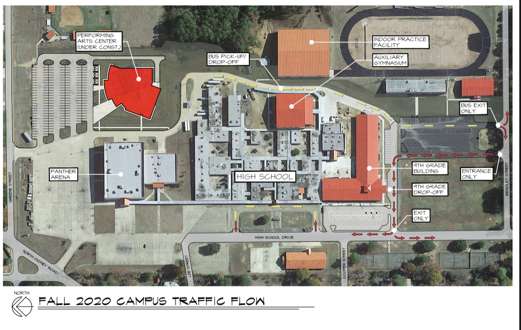High School Campus Traffic Flow