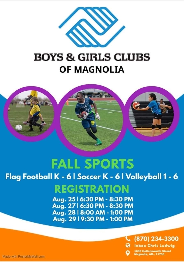 Boys and Girls Club Fall Registration