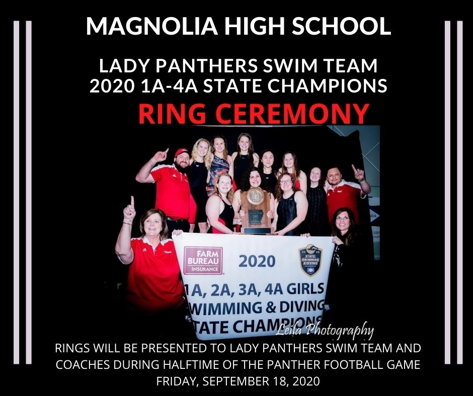 Lady Panthers will receive their rings Friday. September 18.