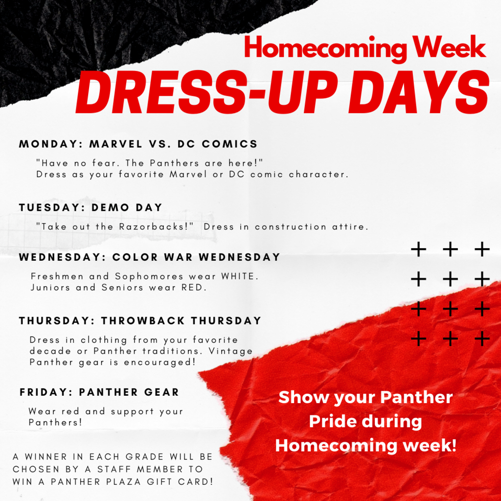 Homecoming Week Dress-Up Days