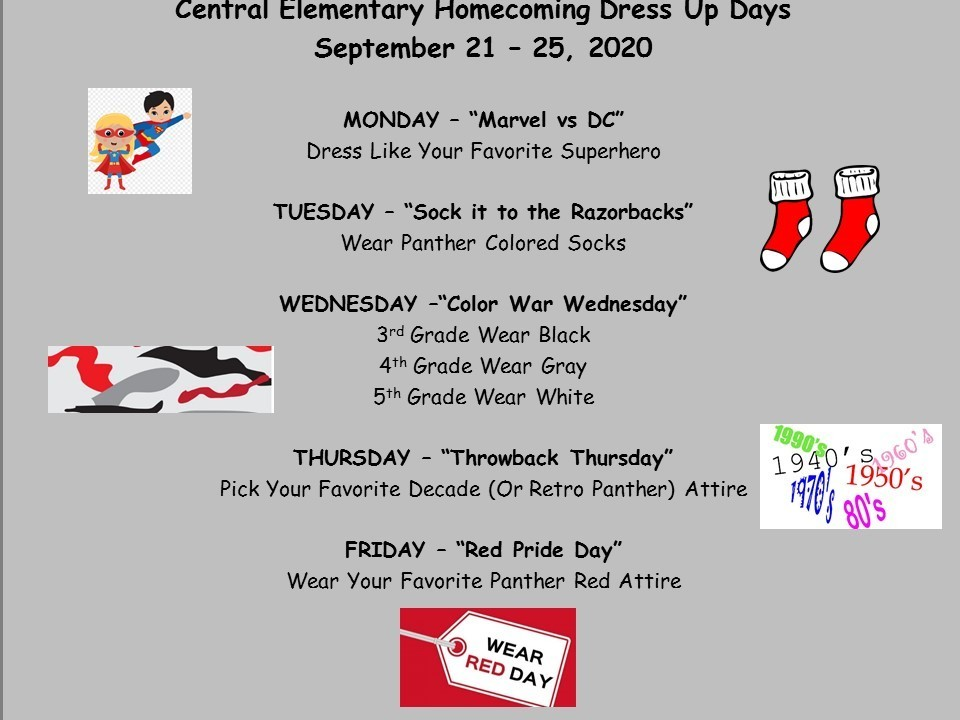 Dress Up Days Instructions