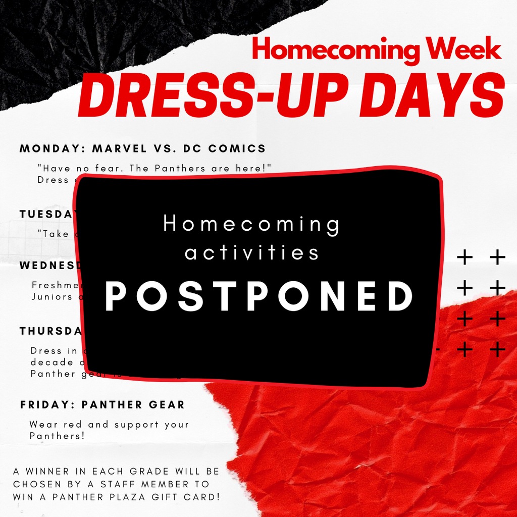 Dress up days postponed